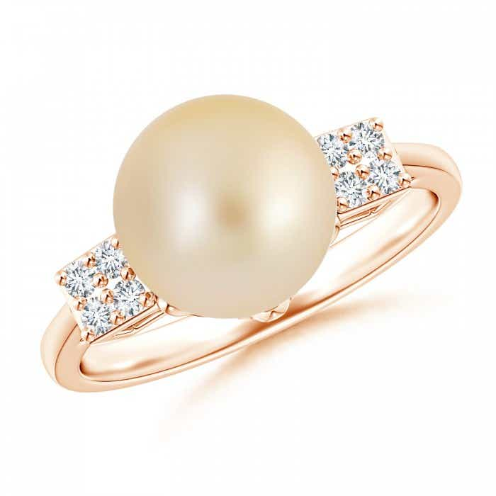 Angara Golden South Sea Cultured Pearl XO Ring EtkVX