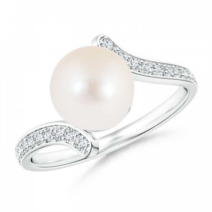 Angara Freshwater Cultured Pearl Bypass Ring