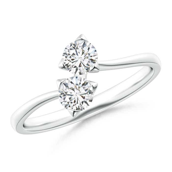 Angara Twist 2 Stone Diamond Promise Ring 9CCkDNfL