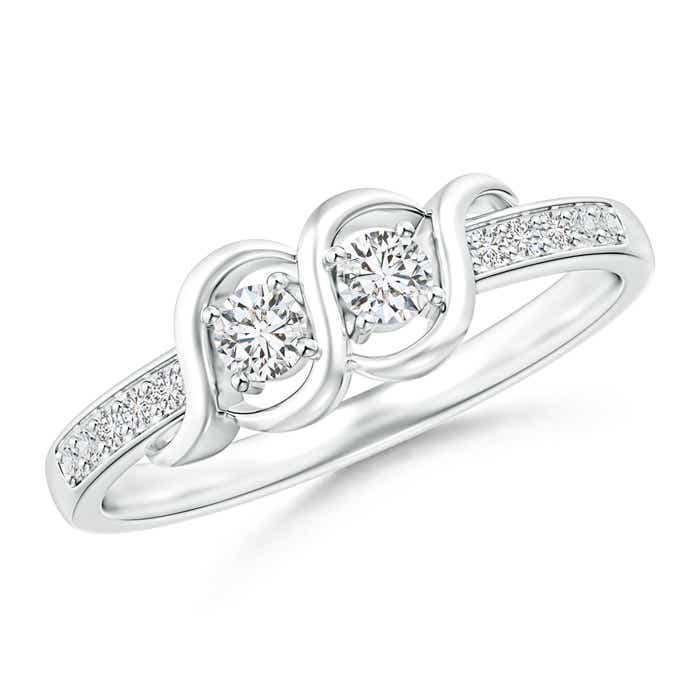Angara Round Two Stone Twist Diamond Ring 4L6NsdjnK
