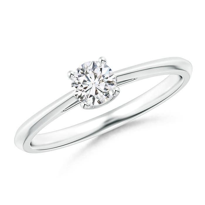 Angara Round Diamond Solitaire Ring in White Gold IURvcJTc