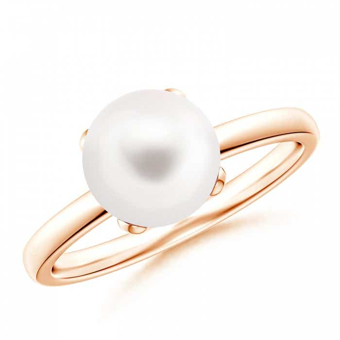Angara Solitaire Freshwater Cultured Pearl Bypass Ring 2YBcsLfMiA