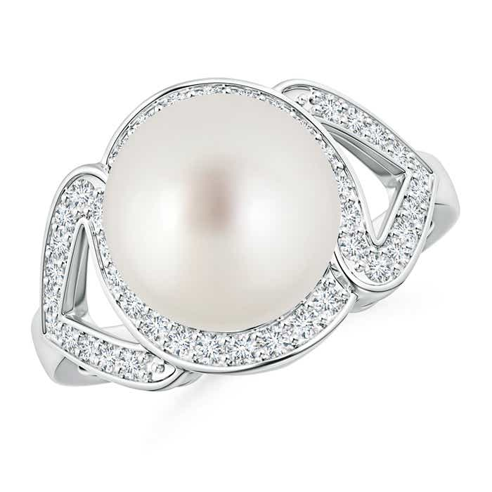 Angara South Sea Cultured Pearl Solitaire Split Shank Ring tNqPu3c