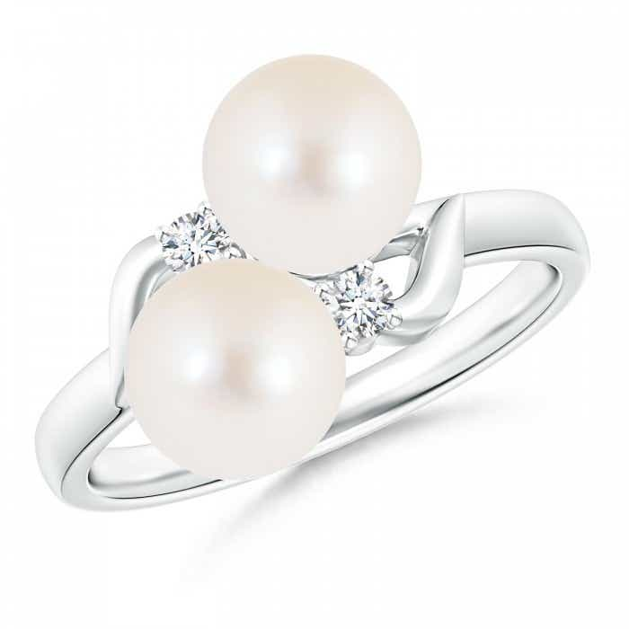 Angara Classic Freshwater Cultured Pearl Ring