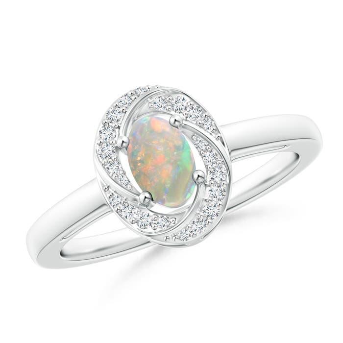 Angara Classic Prong Set Opal Pinwheel Ring with Diamonds P9afVOfQQr