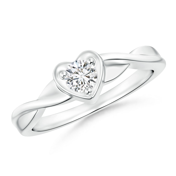 Angara Solitaire Diamond Criss-Cross Ring