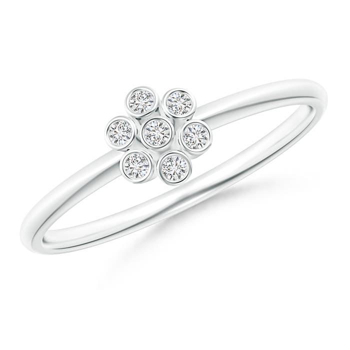 Angara Bezel-Set Round Diamond Dotted Cluster Ring in Platinum 7yQff