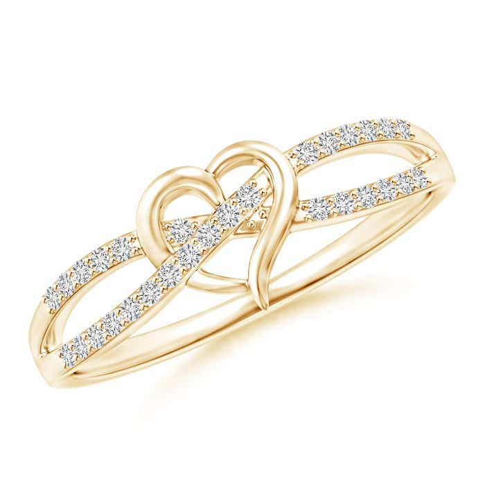 Angara Floating Trio Diamond Heart Promise Ring 6gzfZt122D