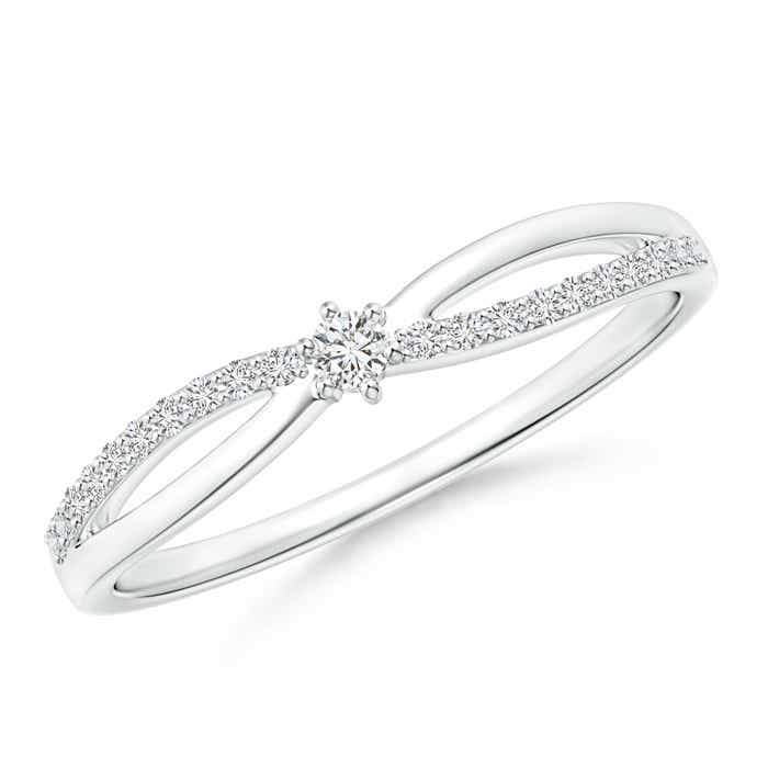 Angara Pave-Set Round Halo Diamond Infinity Promise Ring