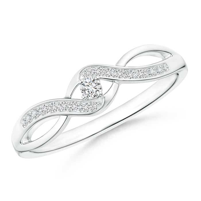 Angara Infinity Twist Round Diamond Promise Ring with Prong Set 12a4puau