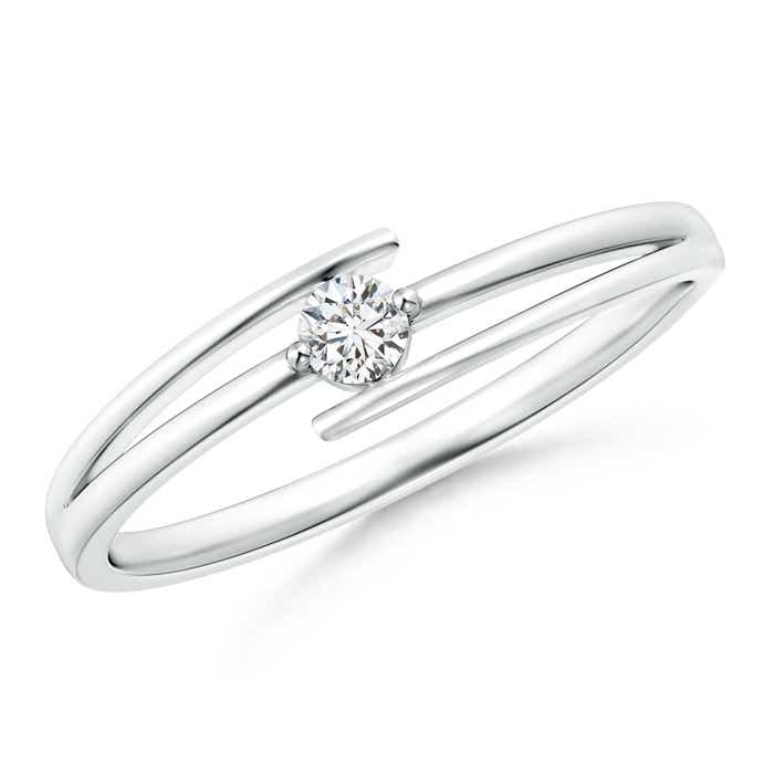 Angara Interlaced Swirl Diamond Solitaire Promise Ring
