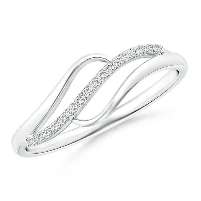 Angara Domed Pave Diamond Studded Crossover Ring