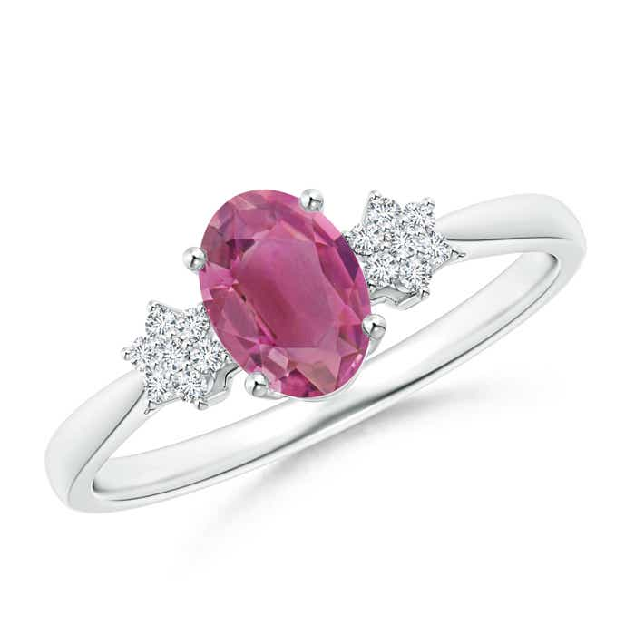 Angara Pink Tourmaline Solitaire Ring in Rose Gold LN94Mwc8