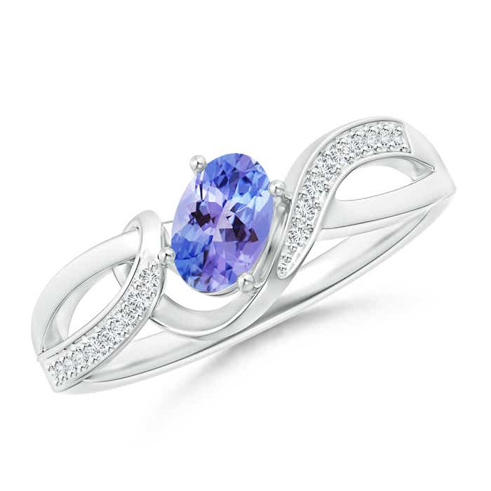 Angara Solitaire Tanzanite Engagement Ring in Rose Gold lXiHS