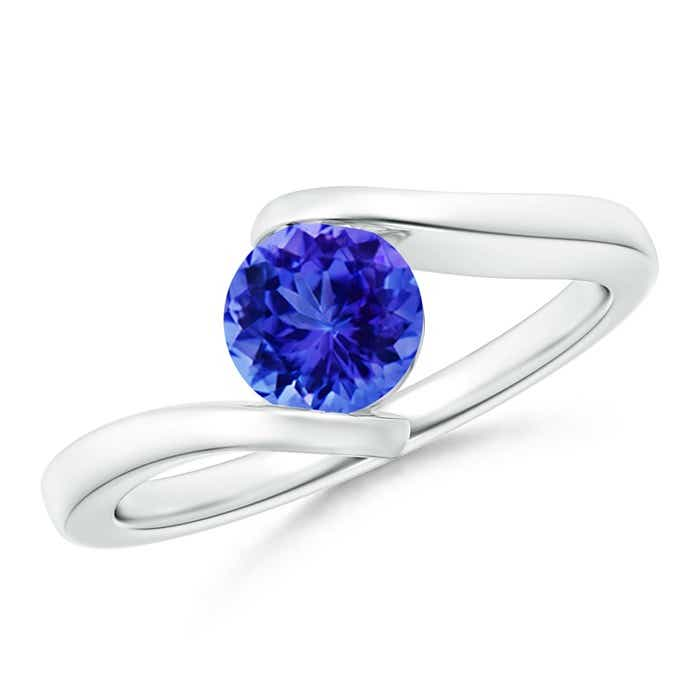 Angara Solitaire Tanzanite Bypass Promise Ring in 14K Rose Gold G7uUgvXj
