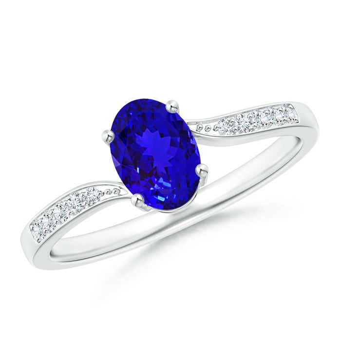 Angara Solitaire Tanzanite Bypass Ring in Yellow Gold uHWhdS