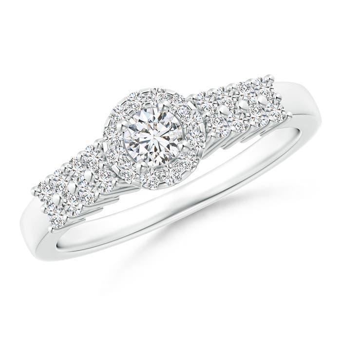 Angara Round Diamond Classic Solitaire Ring With Pretzel Heart-Motif K3TEeXGw