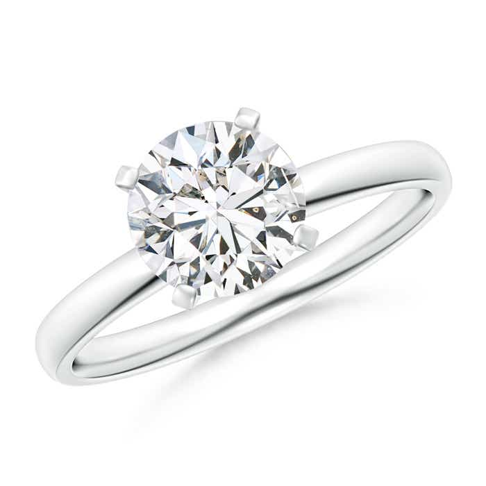 Angara Classic Round Diamond Solitaire Ring