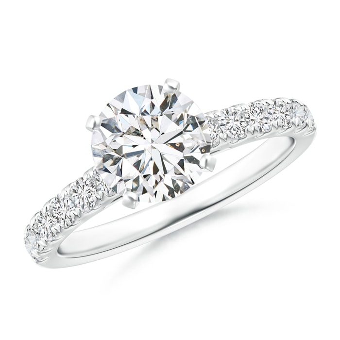 Angara Classic Diamond Engagement Ring with Diamond Accents 072Q4kV5fa