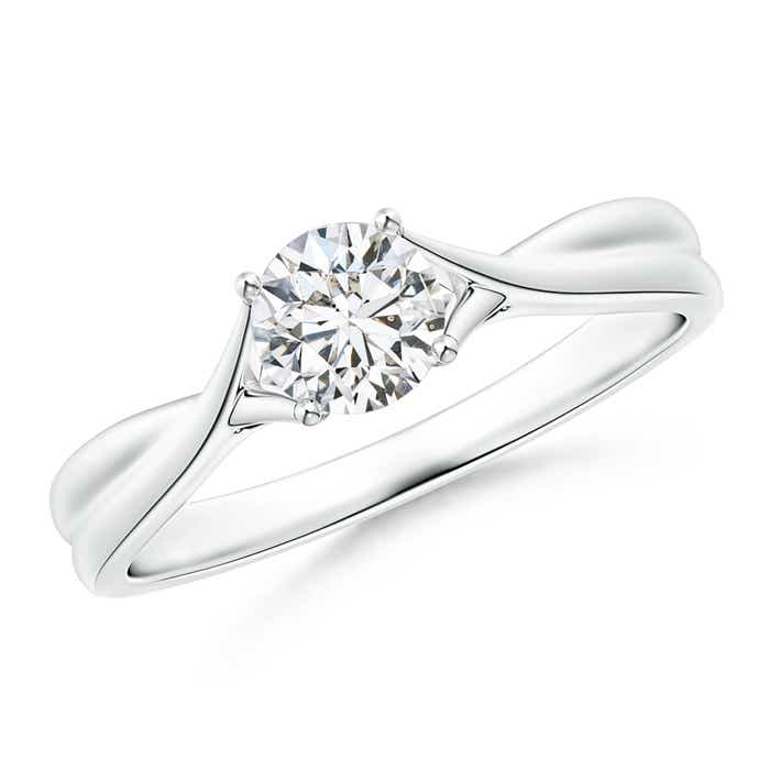 Angara Twisted Cradle Diamond Solitaire Engagement Ring pSaoa3KQ