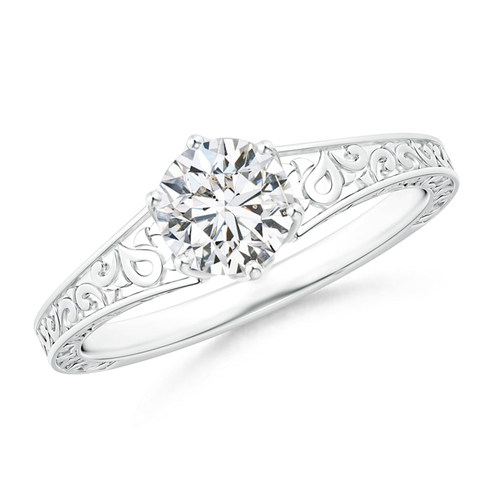 Angara Reverse Tapered Diamond Solitaire Engagement Ring with Filigree-Motifs cy7dIRpn