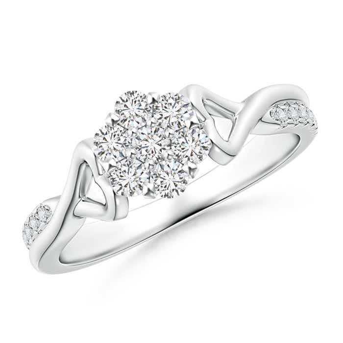 Angara Illusion Set Diamond Crossover Promise Ring vmANu7CwX