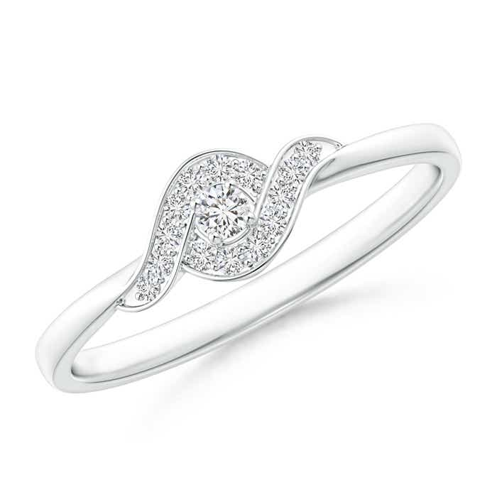 Angara Interlaced Swirl Diamond Solitaire Promise Ring GOtNtpXkb