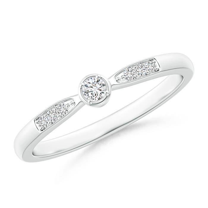 Angara Round Diamond Classic Solitaire Ring With Pretzel Heart-Motif w5FuMEn6C