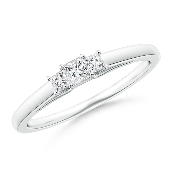 Angara Classic Princess-Cut Diamond Three Stone Ring 3RTMiq