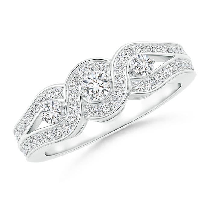 Angara Cushion Framed Composite Diamond Art Deco Promise Ring SrrA13SSkz