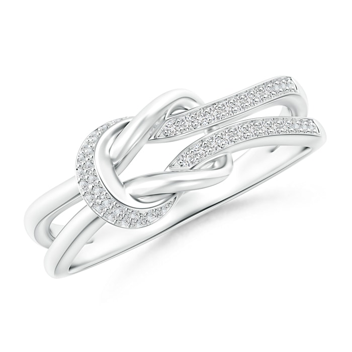 Angara Twin-Row Diamond Infinity Swirl Ring eyBjF