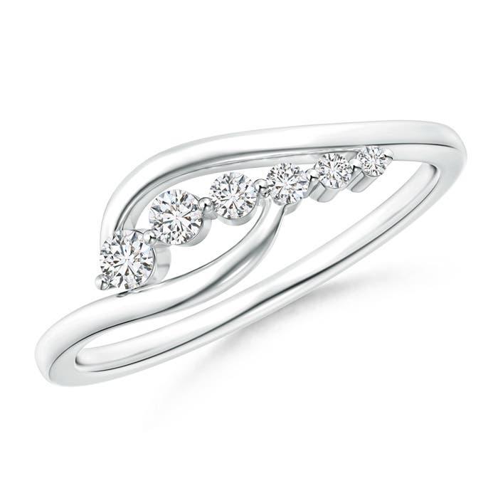 Angara Pave Set Crossover Round Diamond Studded Ring sZWNmy