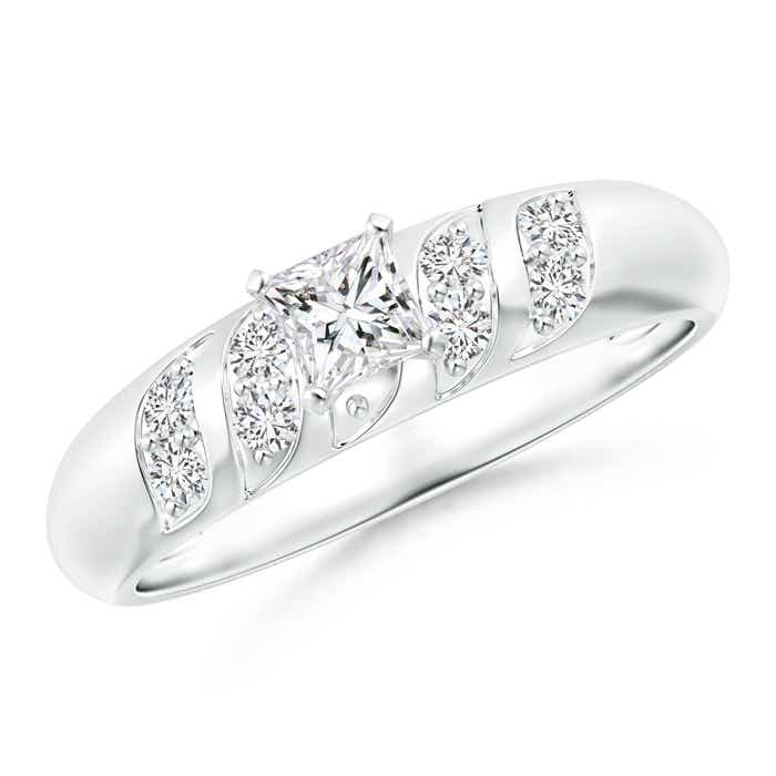 Angara Princess Cut Diamond Engagement Ring in White Gold eKzObmq