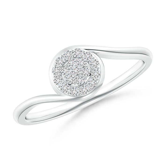 Angara Round Halo Diamond Cluster Promise Ring eJXvHSu8h