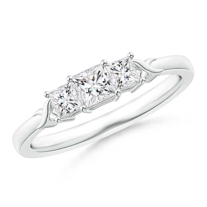 Angara Princess-Cut Trellis Diamond Three Stone Ring uO5lsy1kb
