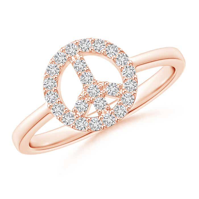 Angara Interlinked Pave-Set Diamond Open Loop Ring
