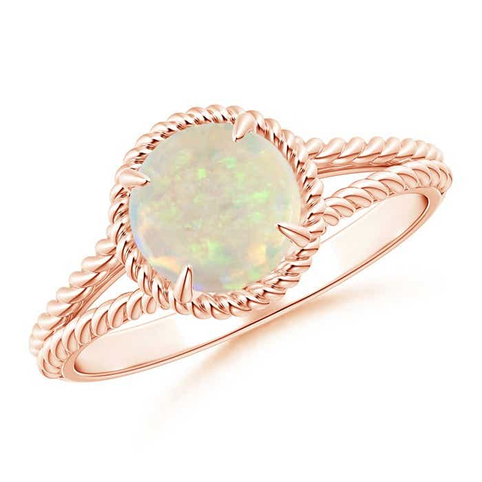 Angara Split Shank Opal Cocktail Ring in Rose Gold HkzmVo