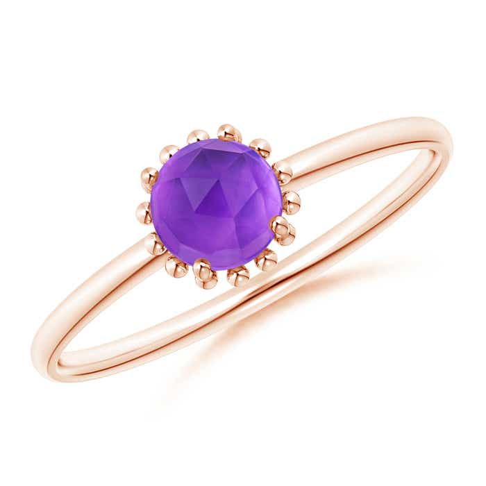 Angara Solitaire Amethyst Engagement Ring in Rose Gold Q2eej