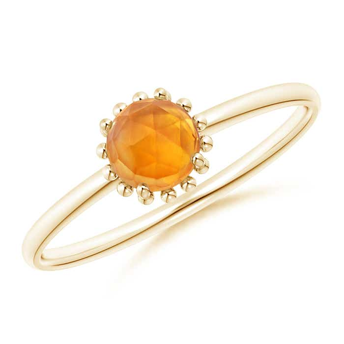 Angara Solitaire Citrine Engagement Ring in White Gold t4bbhFKT