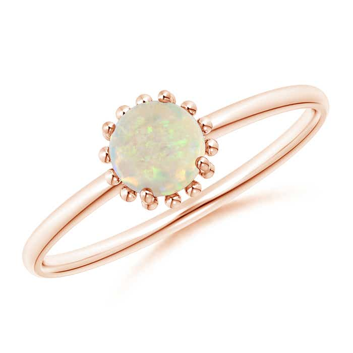 Angara Solitaire Round Opal Compass Ring with Diamond LmsrZa5V