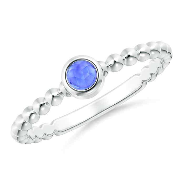 Angara Bezel-Set Round Tanzanite Stackable Ring CzCMGGqlnx