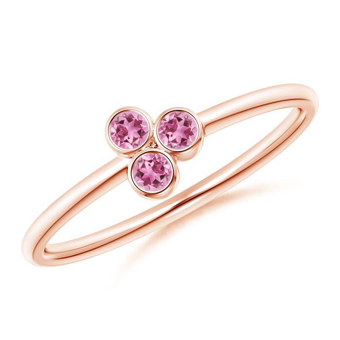 Angara 3-Stone Pink Tourmaline Ring in Rose Gold JxohlAVhC6
