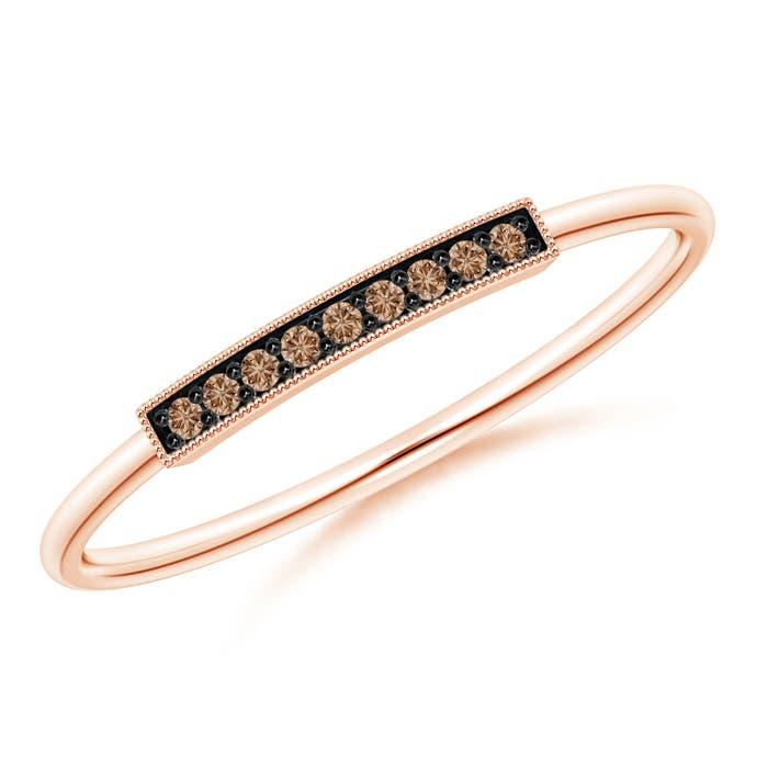 Angara s Brown Diamond Multi-Row Crossover Ring in White Gold sv0fFWKa8t