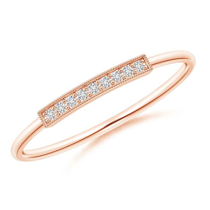 Angara Pave-Set Diamond Earrings in Rose Gold LQXxJU7f7i