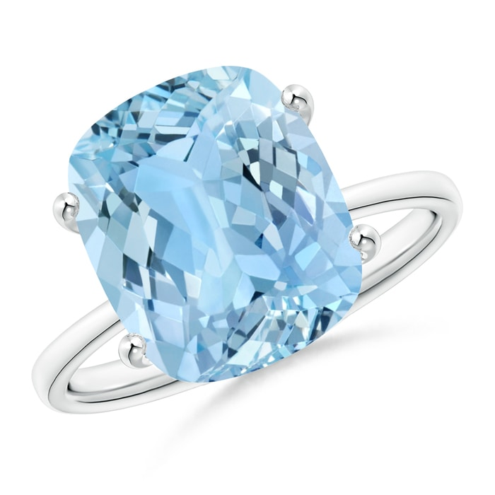 Angara Cushion Aquamarine Solitaire Ring in Yellow Gold buoQkry1x1