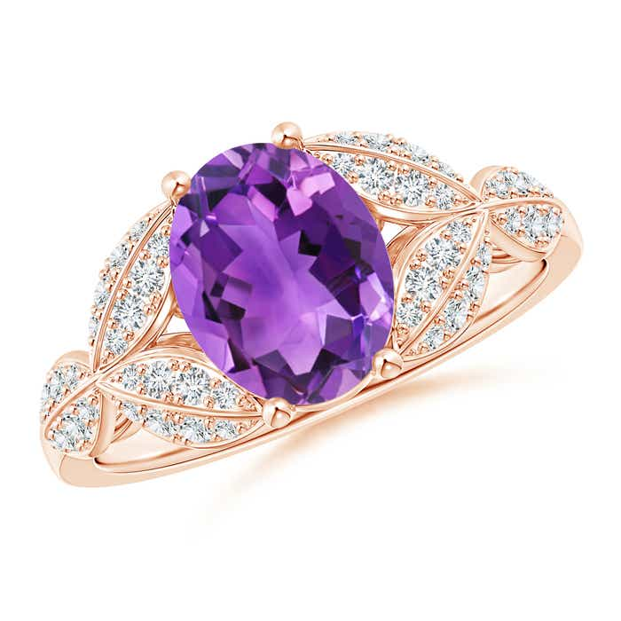 Angara Amethyst and Diamond Cocktail Ring NiNX36r