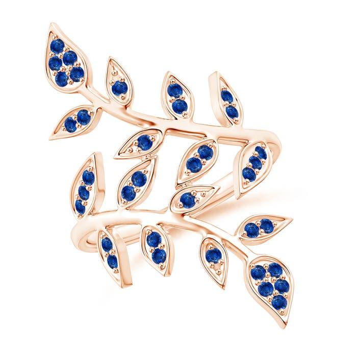 Angara Pave Set Diamond Olive Leaf Vine Ring NFOcU5i