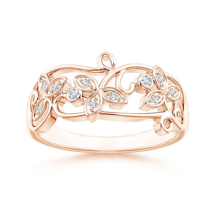 Angara Claw Set Diamond Ivy Scroll Ring ZRbjnrzKIZ