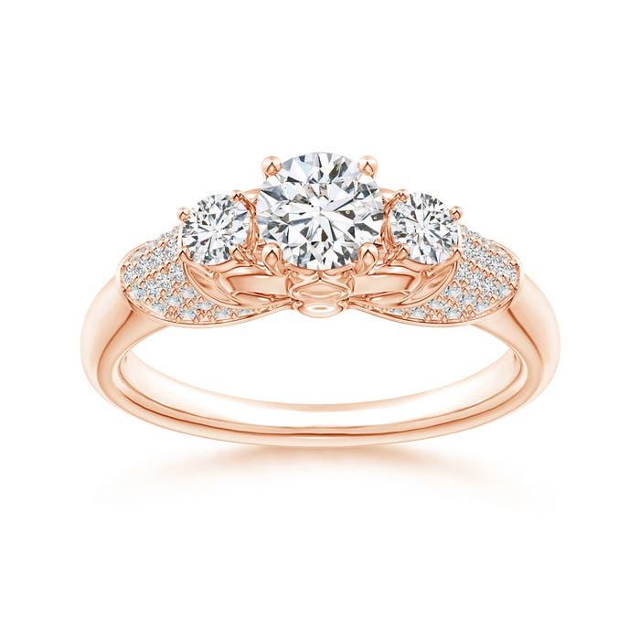 Angara Rose Gold Round Diamond Cluster Ring lm2r5Ss