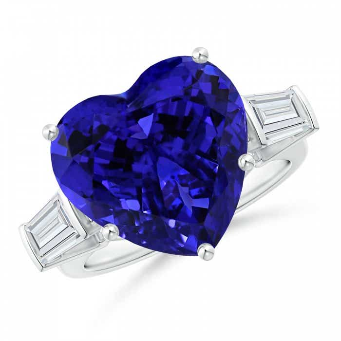 Angara GIA Certified Heart Tanzanite Solitaire Bypass Ring DjZj7g0zN